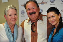 Linda Goss, Howie Neftin and Cathleen Davidson at the City of Angels Fun Ride Donation Event. Photo by Kosal Taing