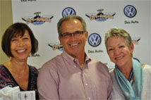 Pamela Bumerts, Peter Heumann and Linda Goss at the City of Angels Fun Ride Donation Event. Photo by Kosal Taing
