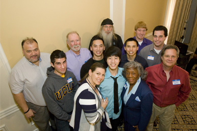 Donovan Ho and the 11 Donors that helped saved his life at the Donor Recognition Luncheon