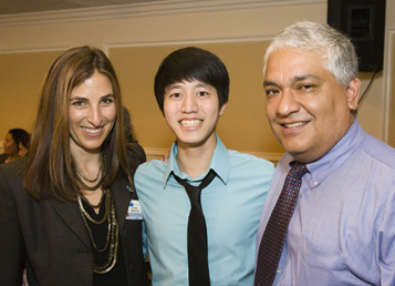Donovan Ho with Dr. Alejos and Dr. Ziman at the Donor Recognition Luncheon
